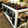 Steel Crypto Coin Open Air Mining Frame Rig Case up to 6 GPU's ETH BTC Ethereum