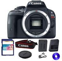Canon EOS Rebel SL1 18.0 MP Digital SLR Camera - Black (Body Only) With 32 GB SD