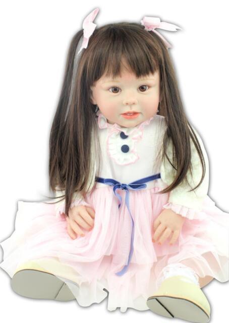"70cm/28"" Very Cute Big Educational toy a year old Reborn Baby Doll"