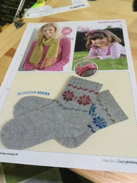 Quick & Easy Lace Scarf, Girl's Bow Hairband, Blossom Socks Knitting Pattern