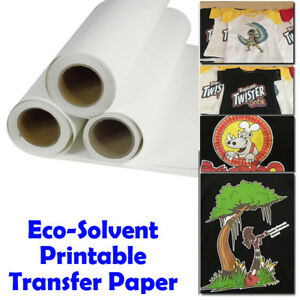 photograph regarding Printable Heat Transfer Paper named Facts concerning 1mx60cm Eco-Solvent Printable Warmth Go paper flex for Darkish Garment