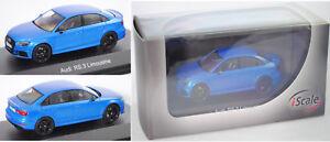 sneakers for cheap new york brand new Détails sur IScale 43000036 Audi rs3 Limousine, arablau Cristal Effet,  1:43, PVC-Box- afficher le titre d'origine