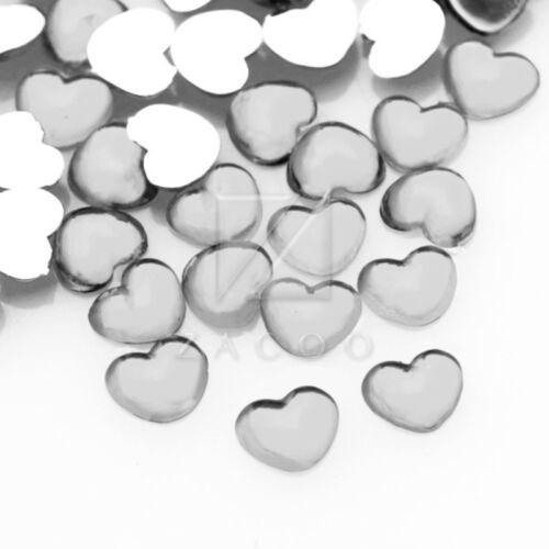 1000pcs 2.5mm Acrylic Crystal Flat Back Rhinestone Diamante Gems Nail Art Heart