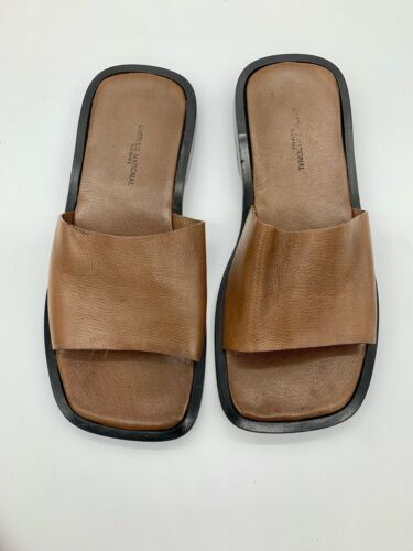 Costume National Homme Men's Leather Sandals Size