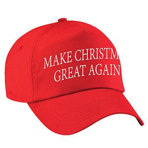 a7c685f3daeaa Make CHRISTMAS Great Again Cap Funny Donald Trump Hat America USA ...