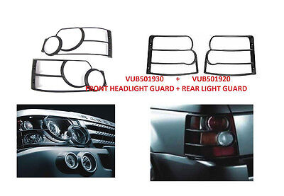 LAND ROVER RANGE SPORT 06-09 FRONT HEAD LIGHT & REAR TAIL LAMP GUARDS KIT NEW