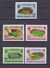 s5610) CONGO 1980 MNH** World Cup Football'82- CM Calcio 5v IMPERF