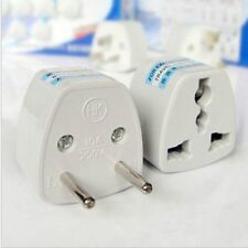 Universal US/UK/AU Travel Adapter to EU Euro AC Power Plug Converter Round pin