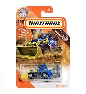 2020 Matchbox MBX Countryside 92//100 MBX BACKHOE Blue INC Construction Box Ships