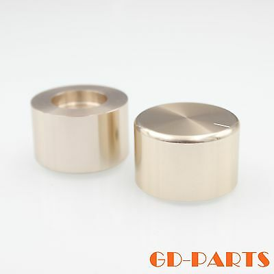 35x22mm Machined Full Aluminum Volume Control Knob For AMP Turntable Golden 2PCS