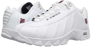 Man K-SWISS ST329 Comfort Memory Foam Training Shoe 03426-129 M White//Black New