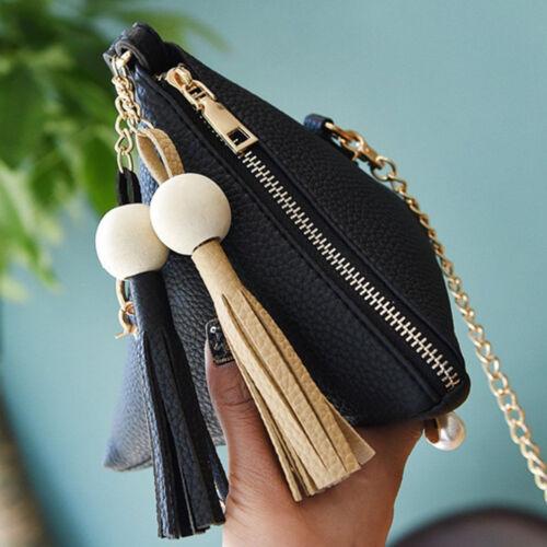 4 Color Triangular Lantern Shape Tassels Decoration Shoulder Bag Small Flap Bags