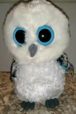 Medium Size - 9 inch TY Beanie Boos Solid Eye Color SPELLS the White Owl