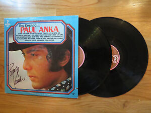 PAUL ANKA signed THE ESSENTIAL PAUL ANKA 1976 Record / Album COA