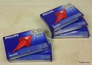 5-x-Philips-CD-One-Typ-I-IEC-I-Normal-Leerkassetten-MC-NEU-OVP