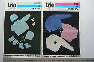 BABY-trio-knits-Knitting-Layette-or-Cardigan-3-4-amp-5-Ply-Choice-2-Booklets-B14