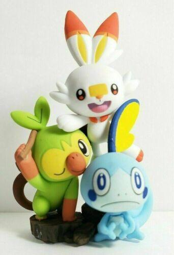 "Pokemon Sword /& Shield Figure Collection /""FIGURE/"" Scorbunny /& Sobble /& Grookey"
