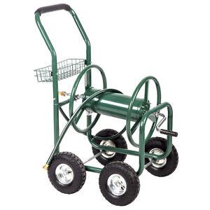 Garden-Water-Hose-Reel-Cart-Outdoor-Heavy-Duty-Yard-Planting-W-Basket