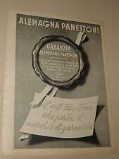 ALEMAGNA PANETTONE=ANNI '50=PUBBLICITA'=ADVERTISING=WERBUNG=219=