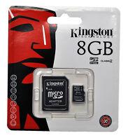 Kingston 8GB SDHC MICRO SD Memory Card For BlackBerry Nokia Samsung HTC Nikon