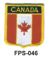 2-1/2'' X 2-3/4 Canada Flag Shield Embroidered Patch