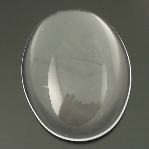 30Pcs Glass Clear Oval Dome Cameo Cabochons 18*13*4.5mm Finding Decor 06926