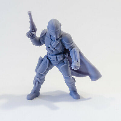 The Mandalorian Star Wars 3D Printed Resin Model Din Djarin