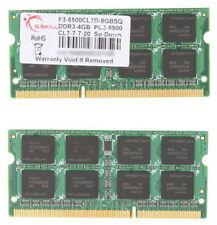 2x 4GB 8GB DDR3 1066 Mhz 1067 Apple MacBook Pro iMac mac mini PC3-8500S SO-DIMM