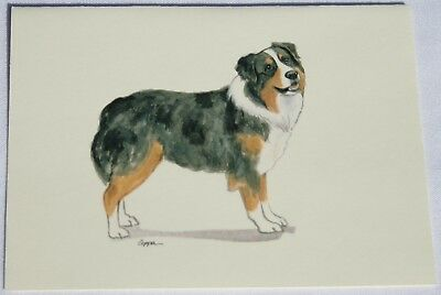 Australian Shepherd Dog Zeppa Studios Fur Children Note Cards Set of 8
