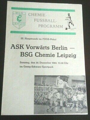 Programm 1978//79 BSG Chemie Böhlen Lok Leipzig