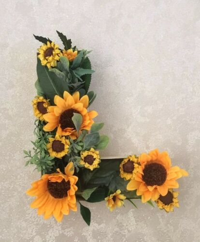 Freestanding //Hanging Floral Letters LOVE wedding Top Table Flowers Sunflowers