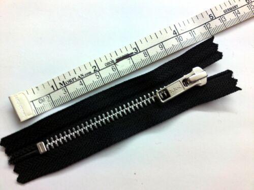 Metal Closed End Zipper Medium Weight Standard Puller Zip Black YKK