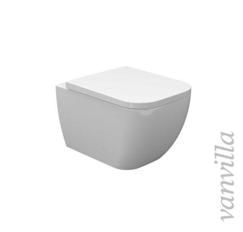vanvilla Hänge WC spülrandlos rimless mit Soft Close Sitz Hänge Bidet SET Tara
