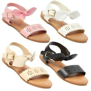 New Baby Toddler Girls Adorable Bow Sandals 1-12
