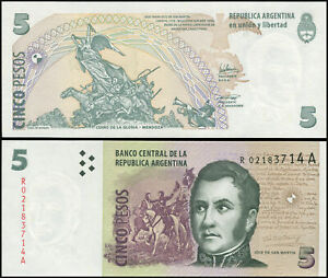 Argentine 5 Pesos. NEUF Replacement ND (2003) Billet de banque Cat# P.353r