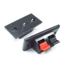 2x 2 posizioni PUSH Jack in carico della molla Audio Altoparlante morsetti connettore pannello