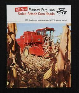 1967-MASSEY-FERGUSON-MF-300-410-510-COMBINE-034-QUICK-ATTACH-CORN-HEADS-034-BROCHURE