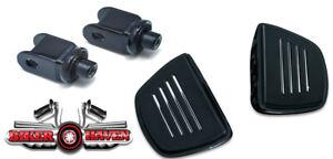 Kuryakyn-Premium-Black-Front-Mini-Floorboard-amp-Adapter-KIT-Honda-VTX1300-Models
