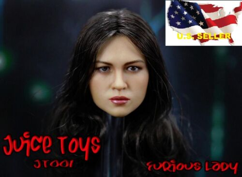 1//6 Michelle Rodriguez 2.0 female head Furious for Hot Toys Phicen ❶US seller❶