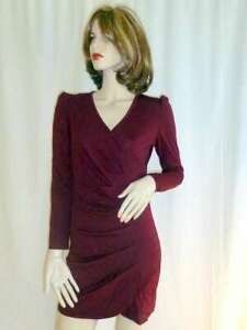 C.M.N. Kleid purplish red rot Gr. S NEU kurz langarm   eBay