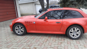 1999 BMW Z3 Coupe, extremely rare,112,406 miles, red on sand