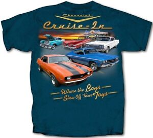 GM-Chevrolet-Classic-Collection-Cruise-In-MIDNIGHT-BLUE-Adult-T-Shirt