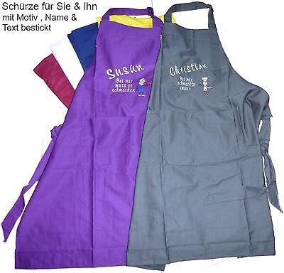 Schürze Grill /& Koch Geschenk Textildruck Aufdruck Küche schmeckt Besten Name 14