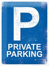 privé Parking Panneau métallique 30x40 cm Signer Bouclier 23171 Abri d'auto