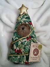 "Boyds Bears Longaberger Holly Jolly Peeker Xmas Tree 8"" Exclusive Mint Cond. NWT"