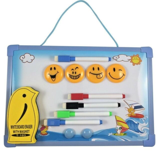 Artline MAGNETIC White Board Eraser SMILEY FACE 6 Colours TO CHOOSE FROM 50mm