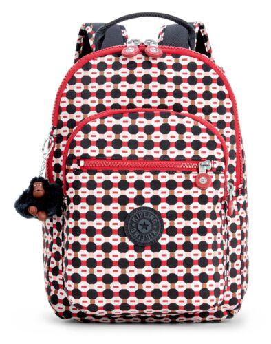 kipling Basic Eyes Wide Open Clas Seoul S Rucksack Tasche Shape Mix Rot Weiß