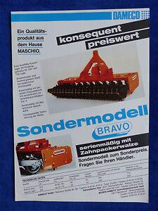 0145-16) Dameco Kreiselegge Bravo 2507-spécial Modèle-prospectus Brochure-afficher Le Titre D'origine Officiel 2019