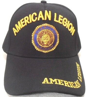 MILITARY-CAP-AMERICAN-LEGION-HAT-BLACK-WITH-INSIGNIA