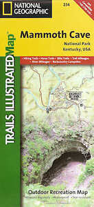 Trails Illustrated Map Mammoth Cave National Park # 234